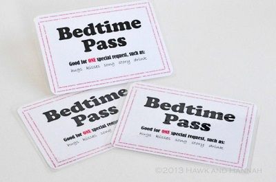 就寢時間卡範例圖